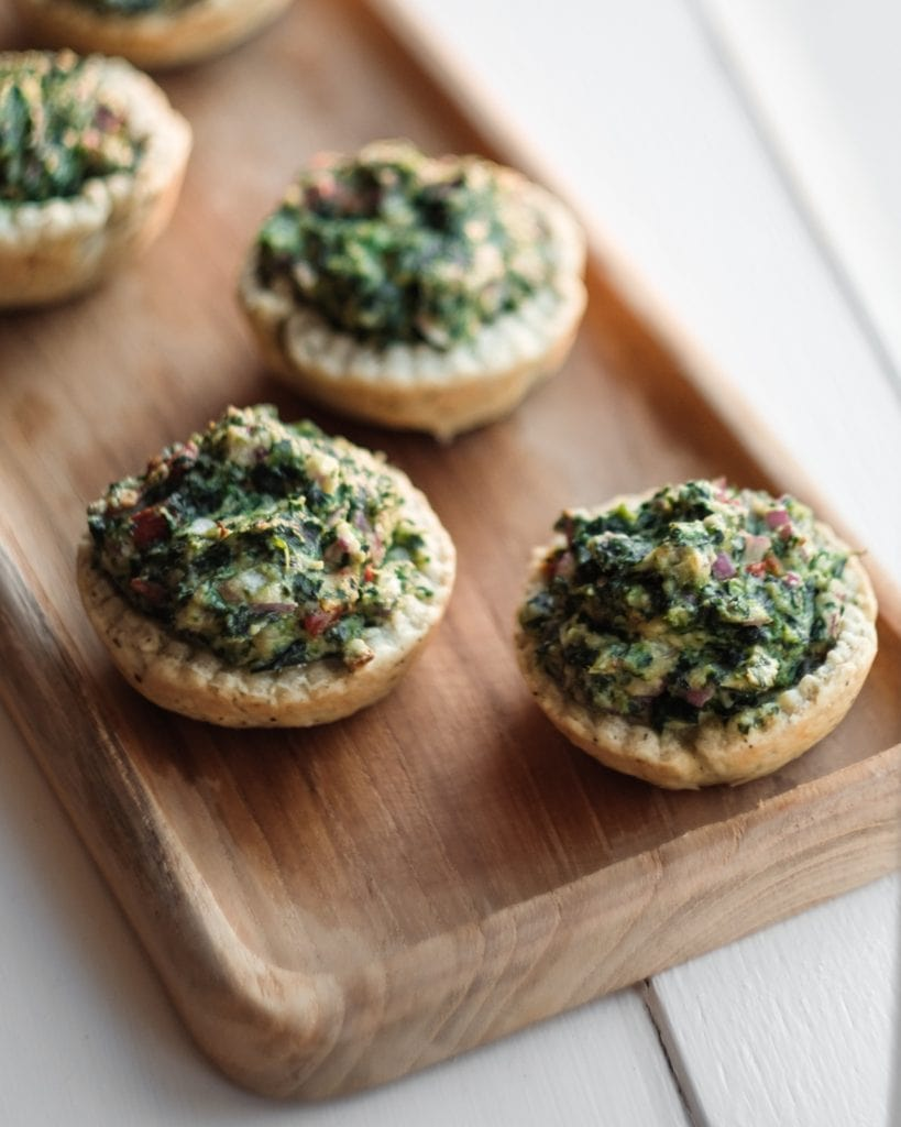 spinach tartlet from above