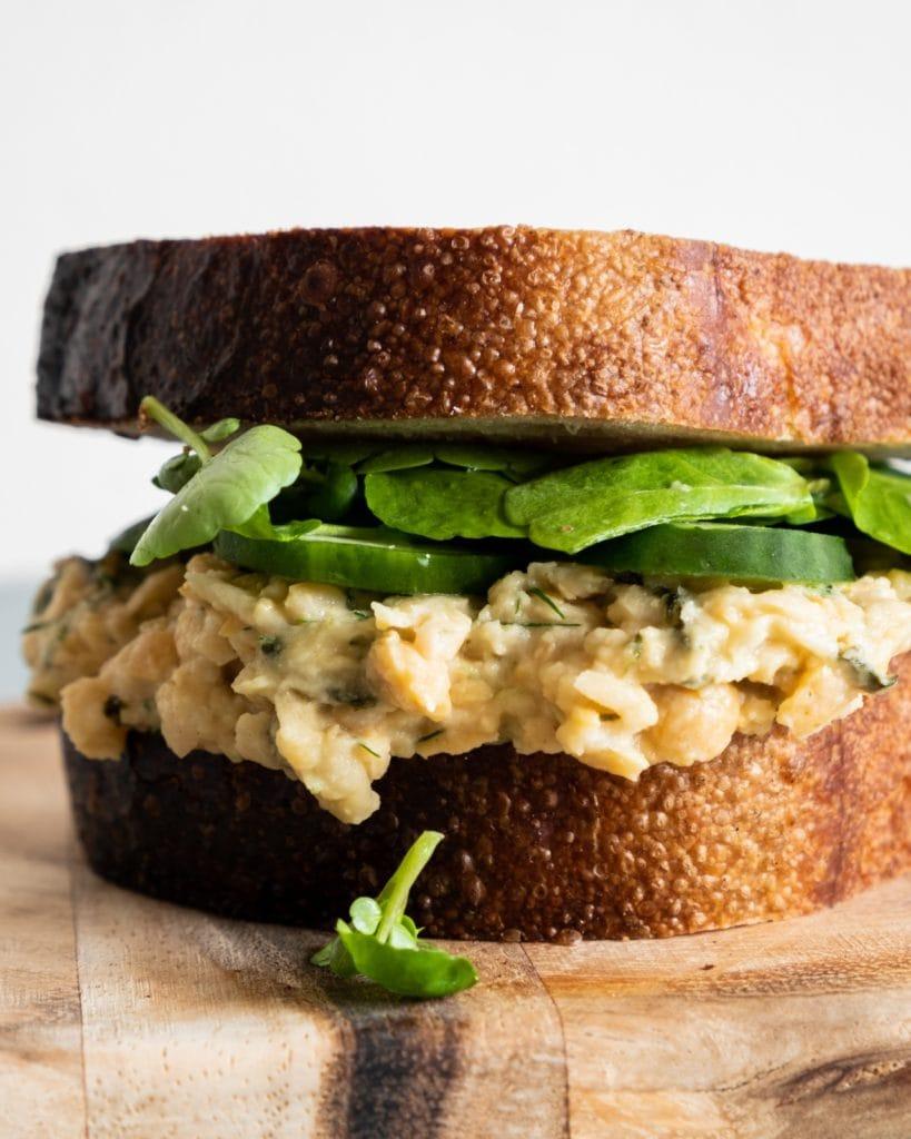 Chickpea No Tuna Sandwich