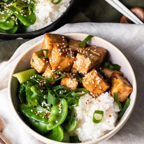 cripsy glazed tofu 45 angle