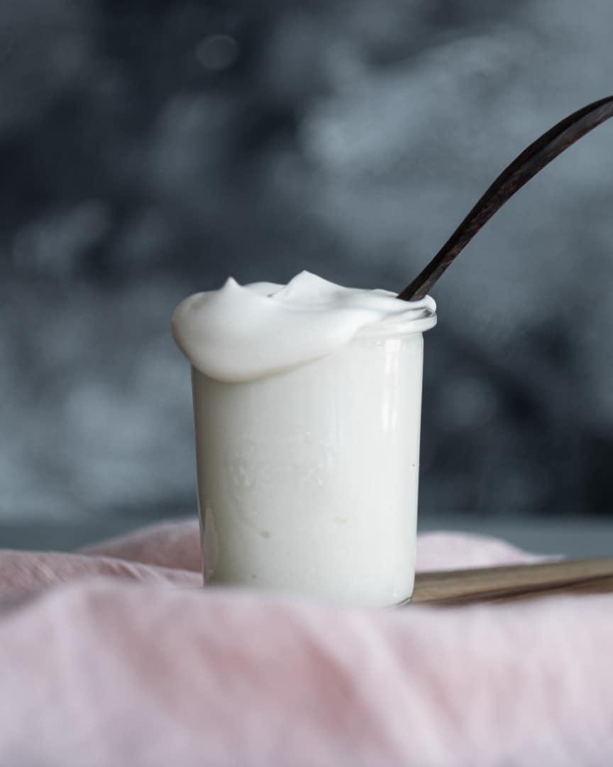 vegan mayo spoon inside