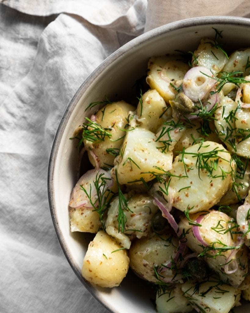 Potato Salad close up from above