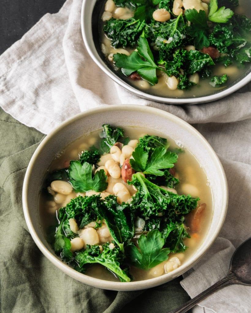 Tuscan Bean Soup 45 angle