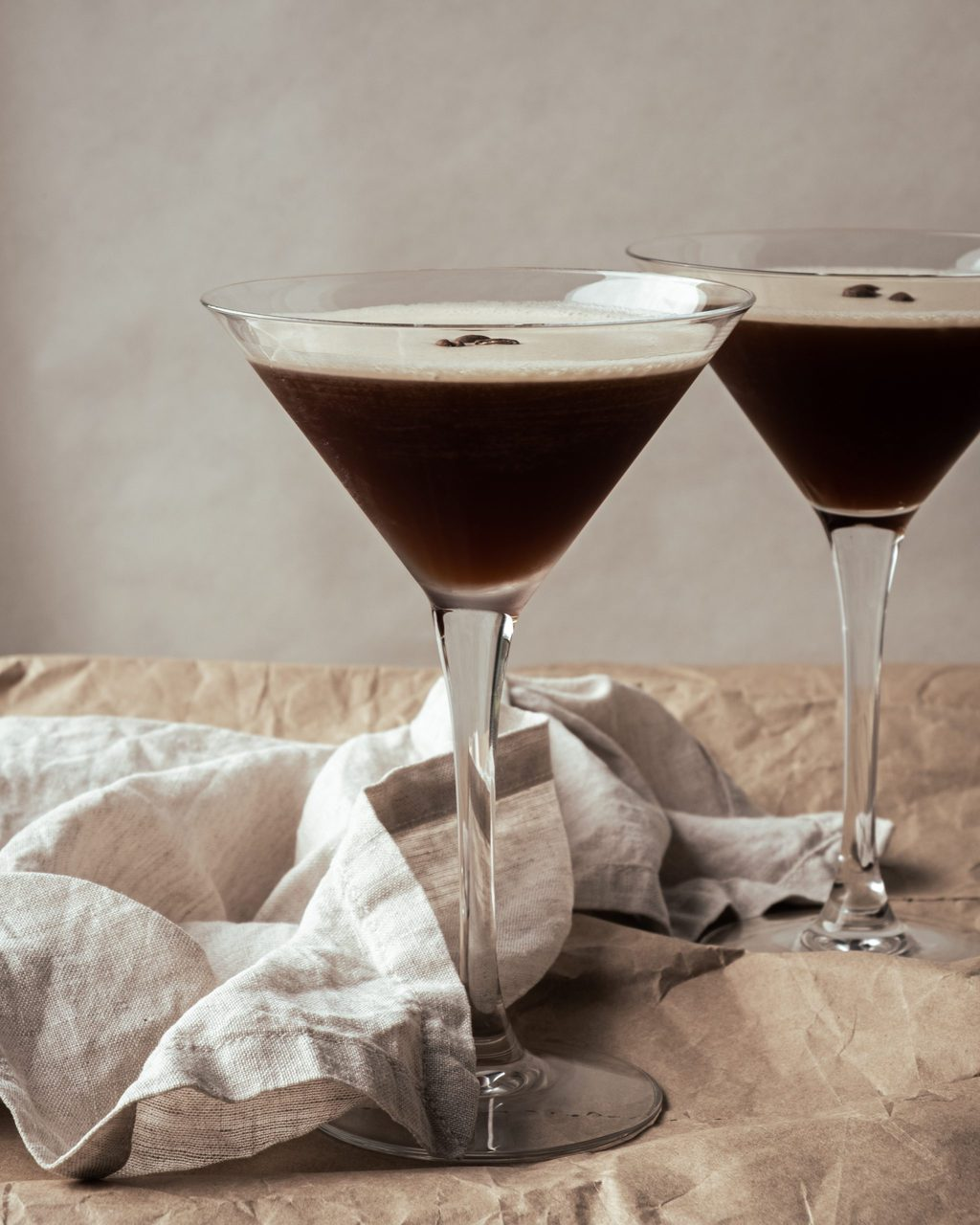 espresso martini from side